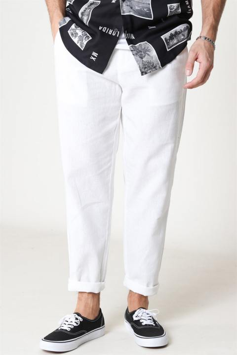 Only & Sons Leo Linen Mix Buks Bright White