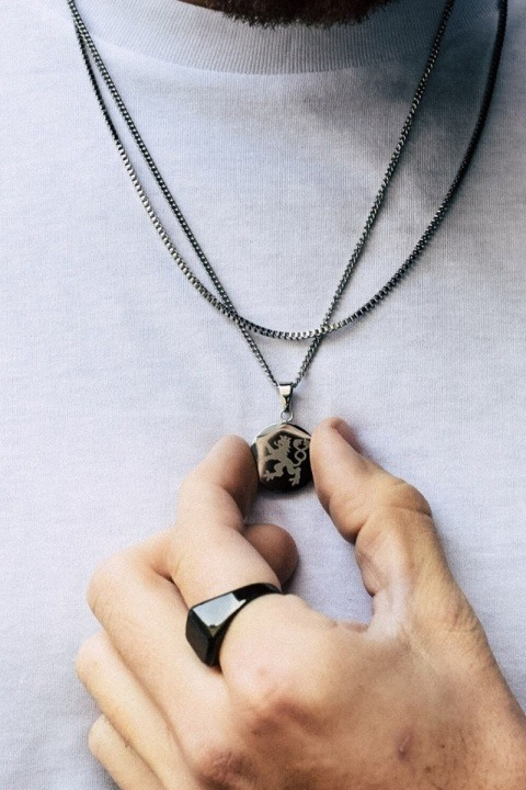 Northern Legacy Lionheart Pendant Ketting Silver