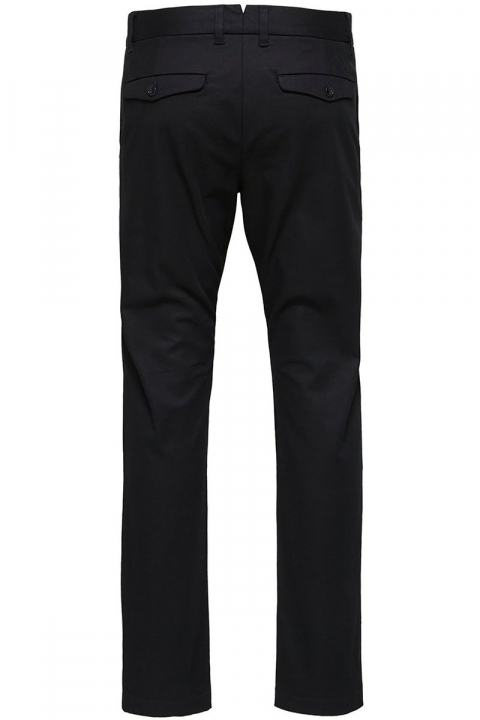 Selected Slim Carlo Pants Black