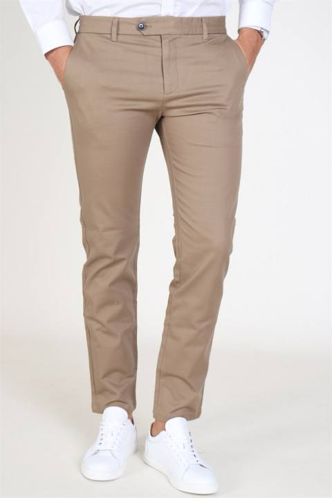 Selected Slim Carlo Pants Sepia Tint