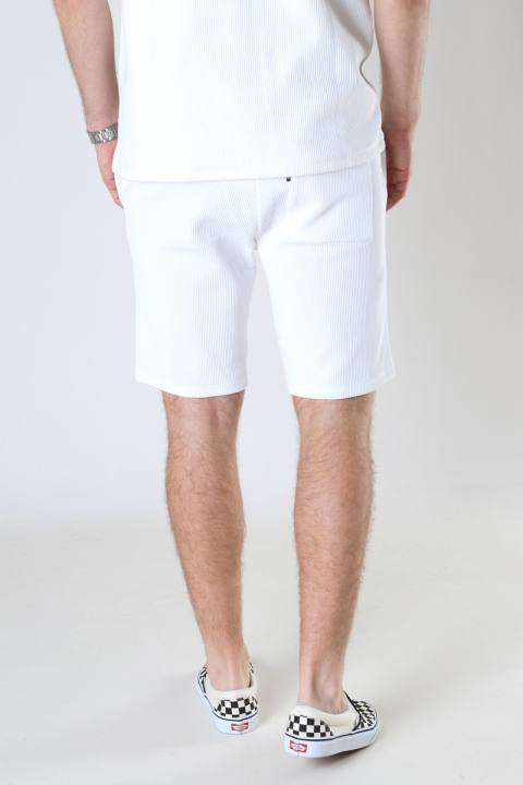 ONLY & SONS ONSBERKELEY LIFE REG SWEAT SHORTS Star White