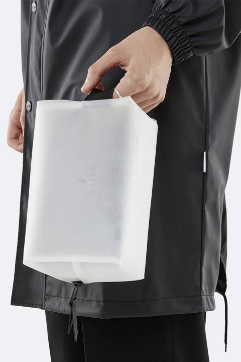 Rains Wash Bag Small Foggy White