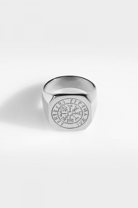 Northern Legacy Oversize Vegvisir Ring Silver