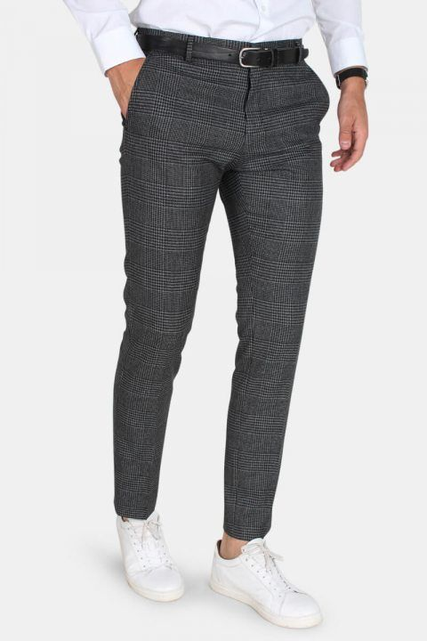 Selected One-MyLo Prince Broek Grey Check