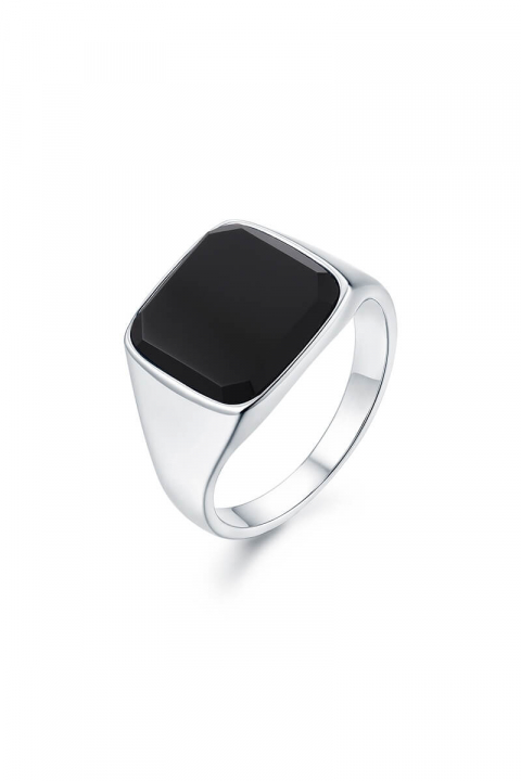Northern Legacy Black Onyx SignatKloke Ring Silver