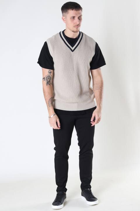 Just Junkies Scoop Knit Vest 006 - Camel