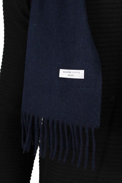 Selected Tope Wool Sjaal Dark Navy