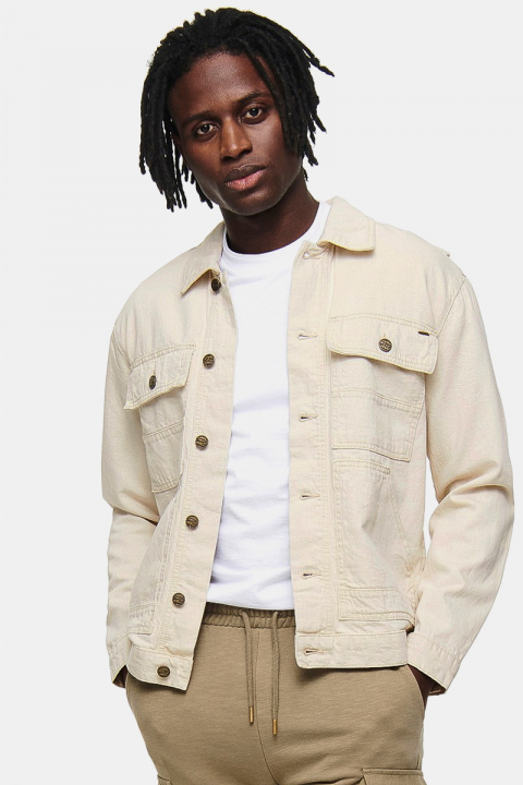 ONLY & SONS ONSDALTON LIFE DENIM JACKET PK 8574 Raw Cotton