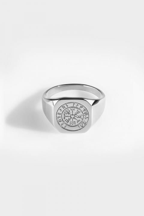 Northern Legacy Vegvisir SignatKloke Ring Silver