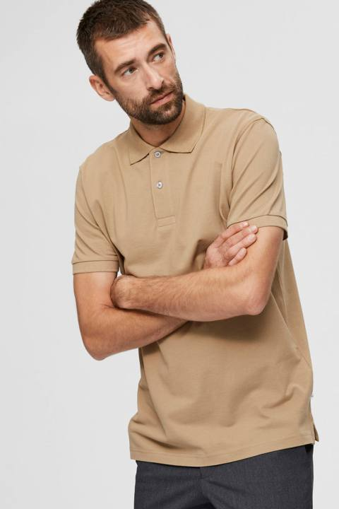Selected SLHNEO SS POLO S NOOS Kelp