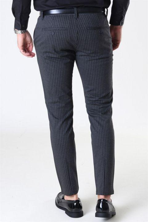 Only & Sons Mark Pants Stripe Dark Grey Melange
