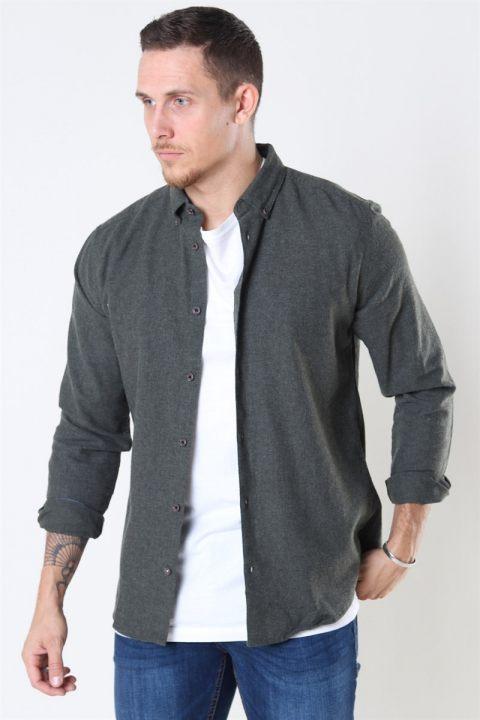 Only & Sons Edin LS Flannel Twill Overhemd Deep Depths