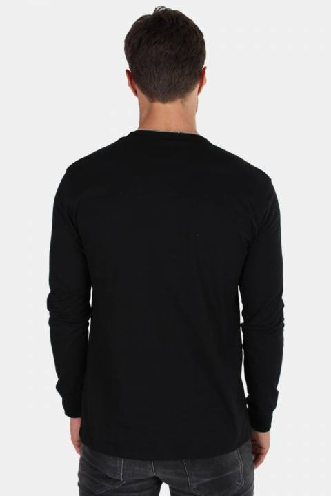 Dickes Round rock LS T-shirt Black