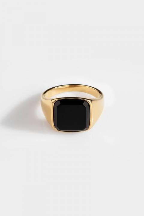 Northern Legacy Ring Onyx SignatKloke Black Gold
