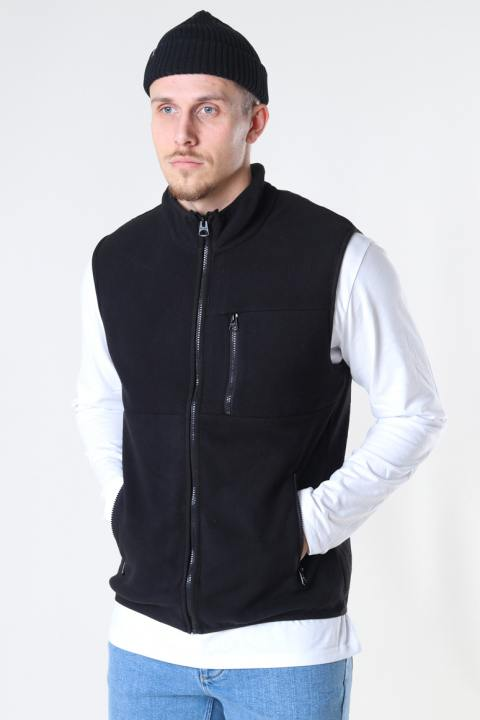 Only & Sons Onsdavis Life Fleece Vest Otw Black
