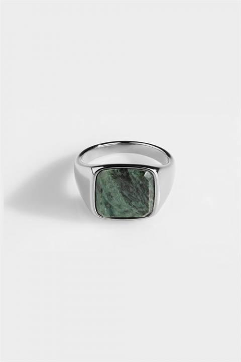 Northern Legacy Ring Verde SignatKloke Green Marble Silver