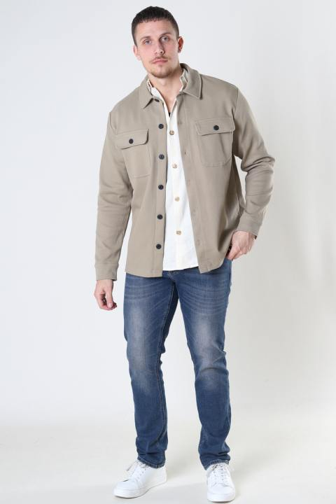 ONLY & SONS ONSchoenDYL OVERSHIRT SWEAT Chinchilla
