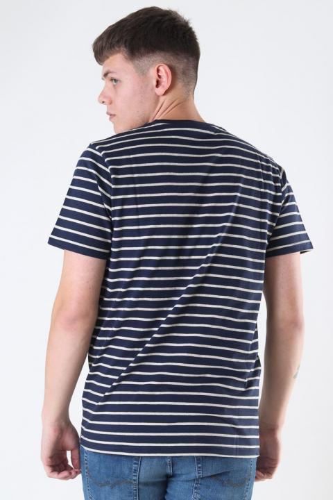 Jack & Jones Striped Tee Crewneck Navy Blazer