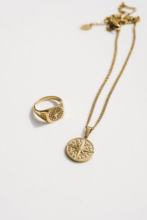 """Northern Legacy Compass Ketting 2.0 """"Gold"""""""