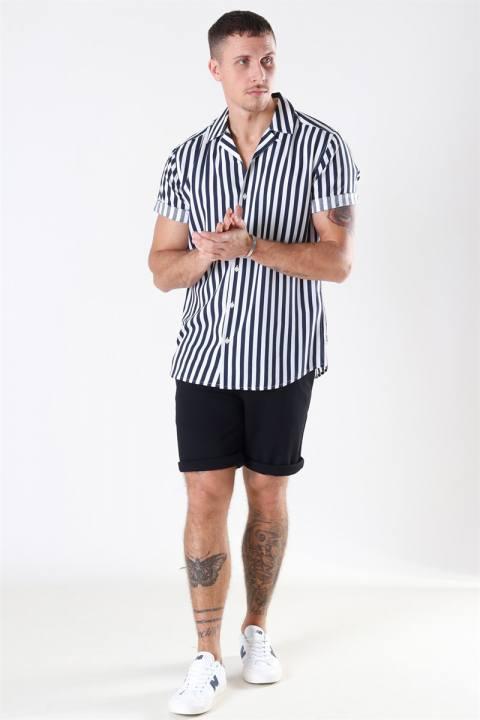 Only & Sons Wayne Striped Viscose Overhemd Dress Blues