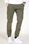 Only & Sons Cam Stage Cargo Cuff Pants Olive Night