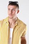 Only & Sons Wayne Striped Viscose Overhemd Golden Spice