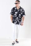 Jack & Jones Jaden Overhemd S/S Black Tap Shoe Fit