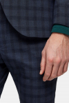 Selected Slim-Mylo Logan Pants Check Navy Blue