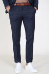 Selected Slim Aden Stripe Broek Grey/Blue