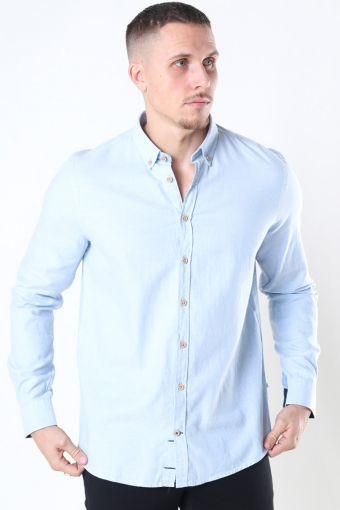 Johan Diego Cotton Overhemd Light Blue