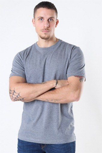 Norman 180 SS O-Neck T-shirt Medium Grey Melange