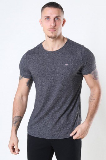 Tommy Jeans Slim Jaspe Crewneck T-shirt Black