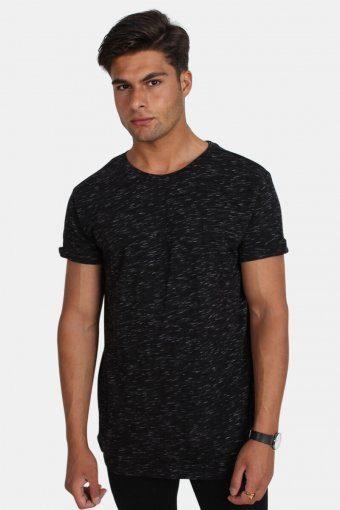 Klokban Classics TB1576 Space Dye Turnup T-shirt Black/White