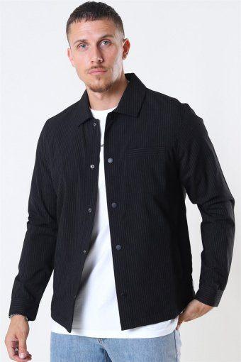 Brenti Stripe Overhemd Black
