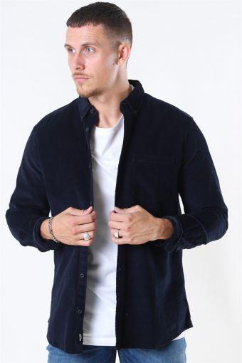 Bennet LS Reg Baby Cord Overhemd Dark Navy