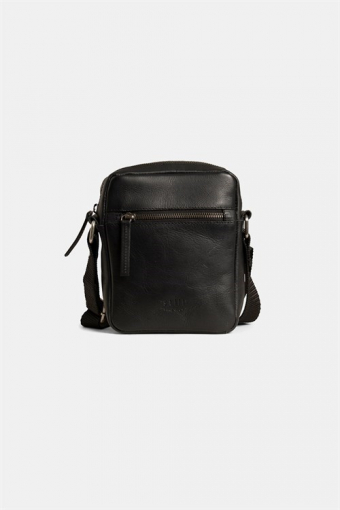 Clean Small Zip Messenger Tas Black