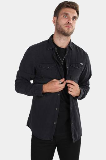 Sheridan Overhemd LS Black Denim
