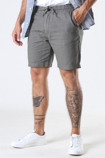 Clean Cut Barcelona Cotton/Linnen Shorts Dusty Green