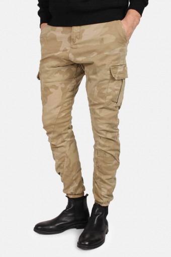 Klokban Classics Tb1611 Camo Cargo Jogging Pants Sand Camo