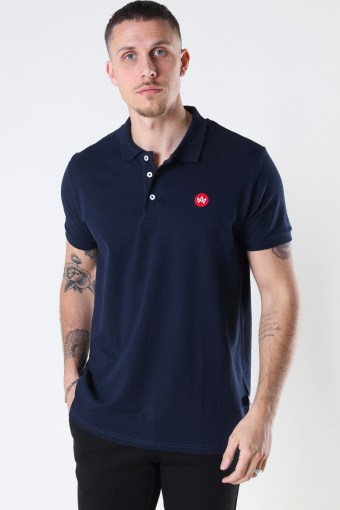 Albert Recycled cotton polo Navy