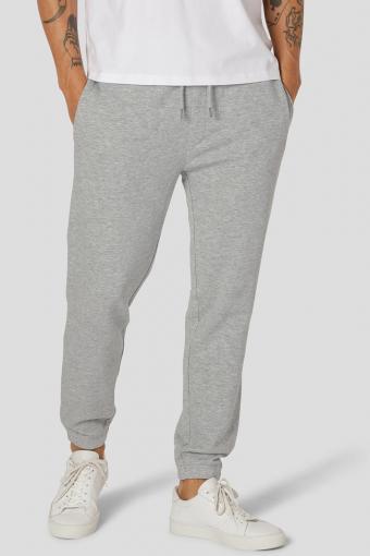 Basic Organic Pants Light Grey Melange