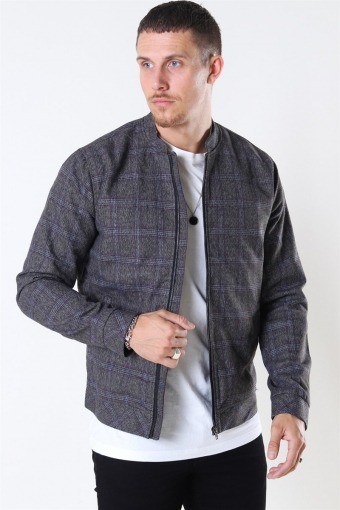 Tailored & Originals Shayan Bomber Jas Med Grey Melange