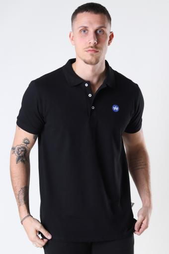 Albert Recycled cotton polo Black