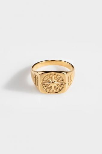 Compass SignatKloke Ring Gold