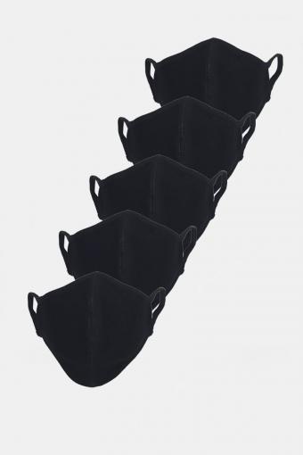 Stretch Mondstuk 5-pack Black