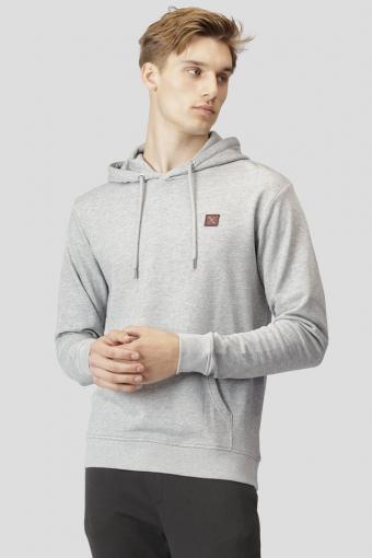 Basic Organic Hoodie Light Grey Melange