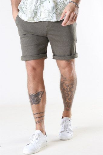 Clean Cut Milano Jersey Shorts Dusty Green Melange