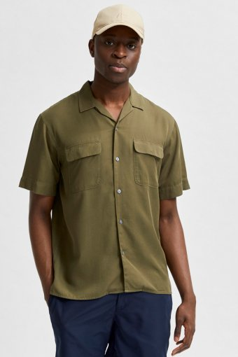 SLHRELAXBILL SHIRT SS G Olive Night