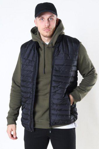 Paul Quilted Vest Black