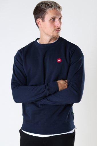 Lars Organic/Recycled sweat crew Navy